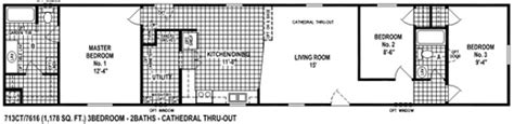 Liberty Mobile Homes Floor Plans Single Wide Mobile Home Floor Plan Spring View 713ct