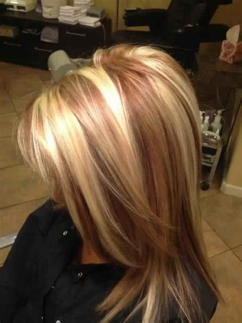 images of blonde highlights and lowlights beautiful golden blonde hair with reddish caramel or