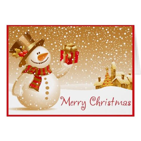 merry christmas gift card zazzle