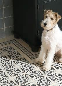 This patchwork design is a wonderful updated look for victorian tiles