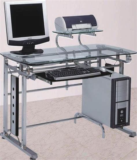 silver and black computer desk 17 best ideas about metal computer desk on