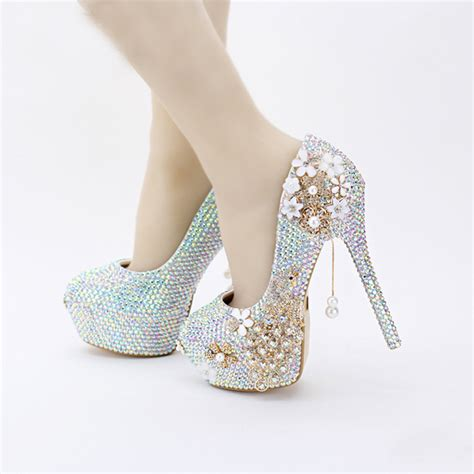 Wedding Shoes Bling by 2016 New Design Bling Bling Ab Color Wedding Shoes