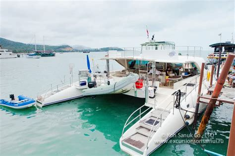 catamaran yacht tour cruises by catamaran quot serenity quot yachts tours on koh samui
