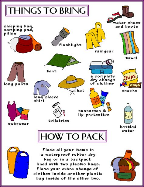 Things To Bring Cing In A Cabin by Fcct What To Pack