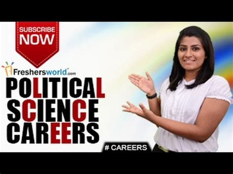 Political Science Mba Careers by Careers In Ba Political Science Ma P Hd Politics Civil