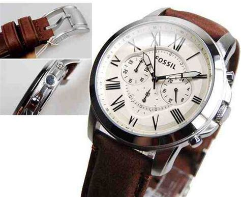 Jam Tangan Fossil Es3855 White Brown Leather jual fossil fs4735 grant chronograph brown leather baru jam murah terbaru murah lengkap