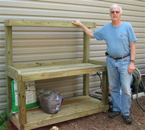 planting bench build plant potting table diy pdf deck railing design