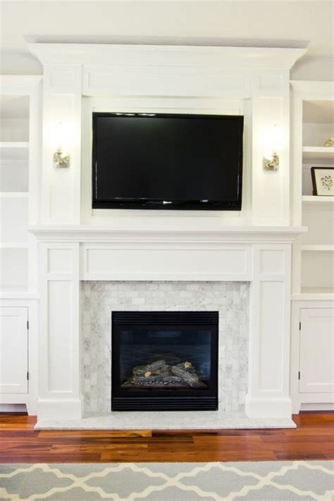 Fireplace Surround Ideas With Tv by Fireplace Surrounds I Really Like The Way There Is An
