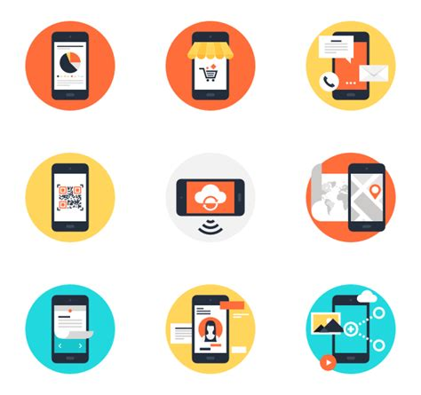 apps for mobile phones free mobile icons 21 794 free vector icons
