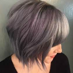 fringe seems to be thinning because of grey hair gray purple medium haircut with fringe the best haircut