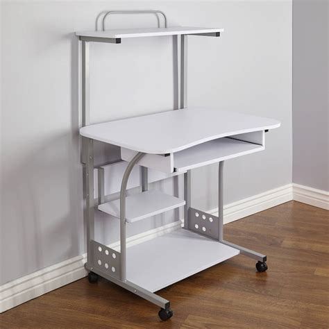 small compact mobile portable computer tower with shelf