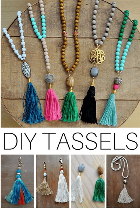 diy tassels tassel necklace tassels and ropes on