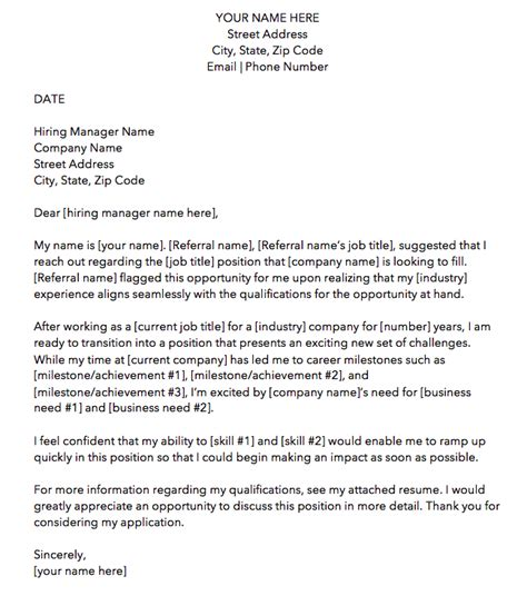 cover letter templates perfect job application