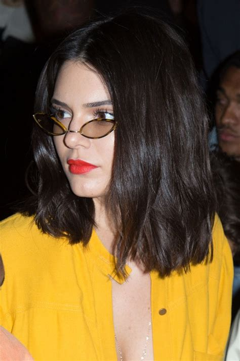 Kendall Jenner Hairstyles by Kendall Jenner Brown Blunt Cut Bob