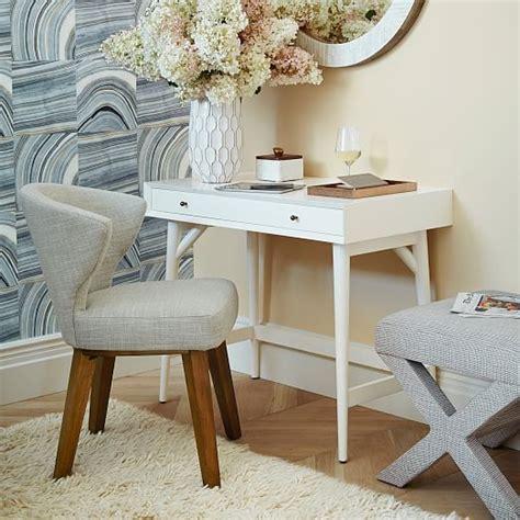 white mid century desk mid century mini desk white west elm