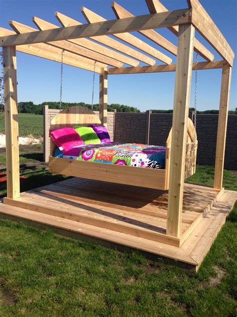 how to make a swing bed outdoor swing bed fun stuff pinterest outdoor swing