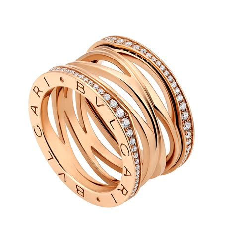 Bulgari Bvlgari Gold b zero1 zaha hadid 18ct pink gold set four band ring