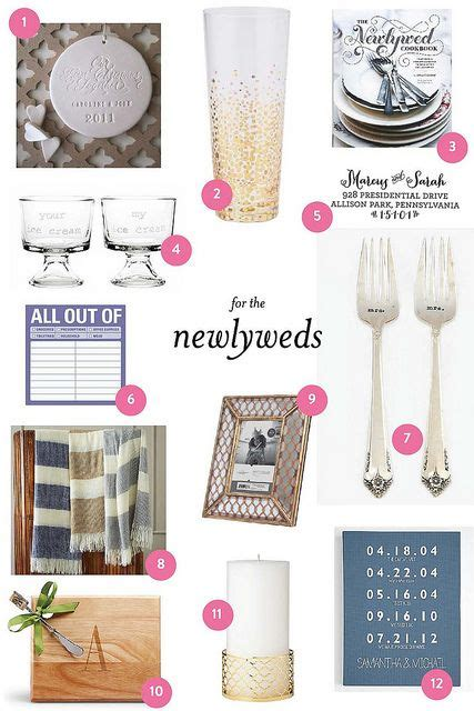 super cute gift guide for newlywed couples bride