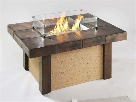 Firepit Coffee Table Outdoor Greatroom Rivers Edge Chat Height Gas Pit Coffee Table New