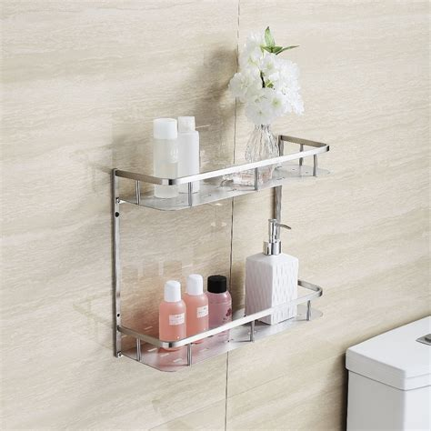 brushed stainless steel bathroom accessories popular brushed nickel shower shelf buy cheap brushed