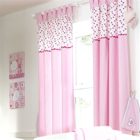 nursery pink curtains luxury baby room decor pink cotton 2 panel nursery
