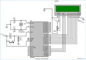 lcd interfacing with 8051 microcontroller 89s52 tutorial with circuit diagram and code