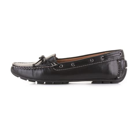 clarks black loafers womens clarks dunbar groove black leather flat driving