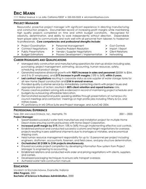 manufacturing manager resume best resume gallery