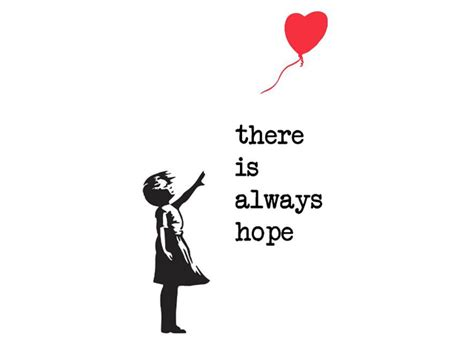 Kitchen Door Design by Banksy There Is Always Hope Grafix Wall Art