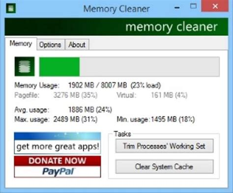 windows ram cleaner come liberare svuotare aumentare ram su pc programmi gratis