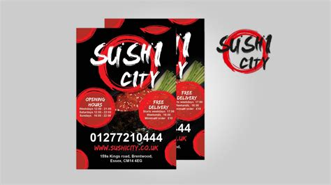 design poster uk menu design for sushi delivery design