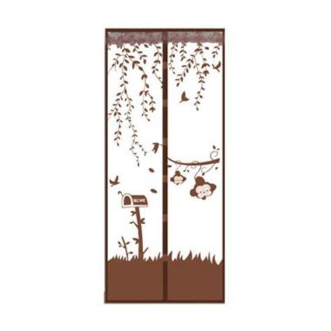 Tirai Pintu Magnet Anti Nyamuk Motif Batik 1 jual eigia delice magic mesh motif jungle tirai pintu magnet anti serangga coklat