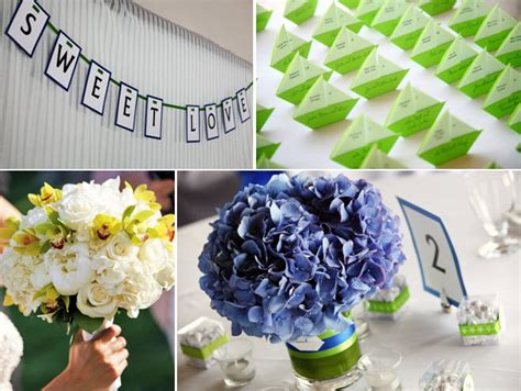 blue purple hydrangeas for wedding reception floral centerpieces totally diy and lime green