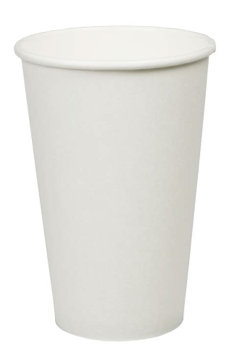 Product More Info 16OZ PLAIN WHITE HOT DRINK CUP   Paper Cups   dispo
