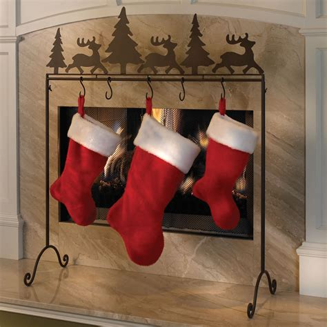 Stocking Tree Stand by The Portable Stocking Holder Hammacher Schlemmer