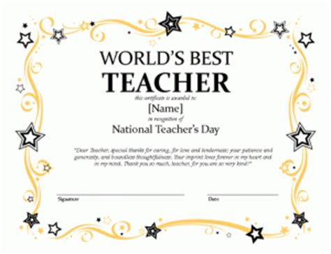 national teacher s day certificate microsoft publisher