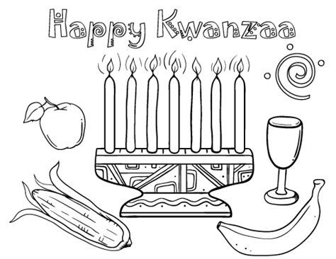 coloring pages for kwanzaa candle holder kwanzaa coloring pages getcoloringpages com
