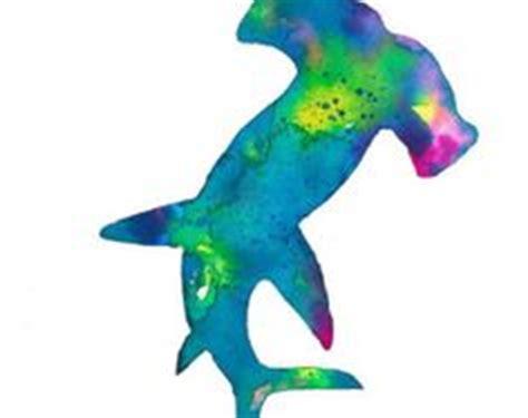 Hummingbird Mermaid Scuba my watercolor shark shark