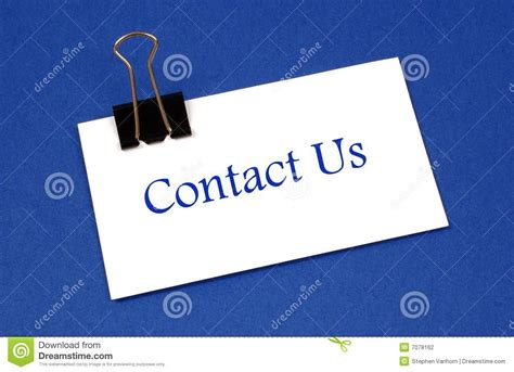 contact us section of website contact us stock photography image 7078162