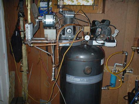 diy dirt cheap shop compressor intercooler