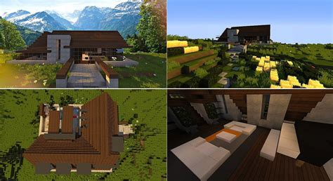 Decoration Maison Minecraft Interieur by Top 5 Des Maisons Modernes Minecraft Minecraft Aventure