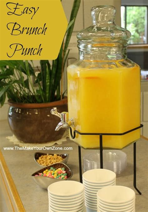 Easy Punch For Baby Shower by Orange Juice Punch For A Morning Brunch Shower Recipe