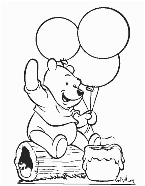 coloring pages printable winnie the pooh winnie the pooh birthday coloring pages for kids