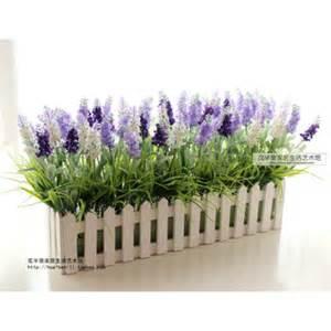 Artificial Flowers For Garden Lavender 50cm Wooden Fence Garden Suite Living Room Decorative Flower Artificial Flowers