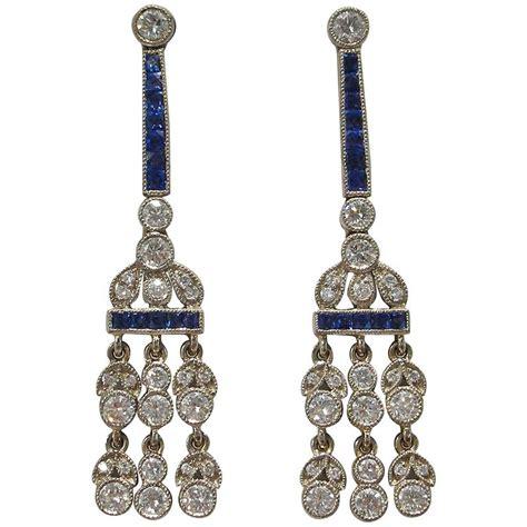 sapphire chandelier earrings sapphire platinum chandelier earrings for sale at