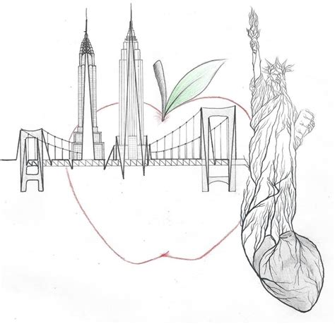 Designer Created To Raise Money For Citymeals On Wheels by Quot New York City Quot A Sharpie And Micron Pen Design