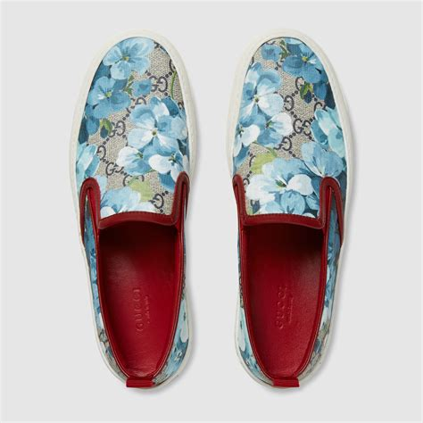Slip On Gucci Wedges Importshoes gucci gg supreme blooms slip on lyst