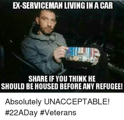 If Meme - ex servicemanlivingin a car share if you think he should