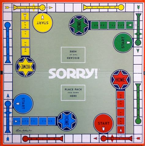 Sorry Board Card Template by Items Similar To 1972 Sorry Board On Etsy