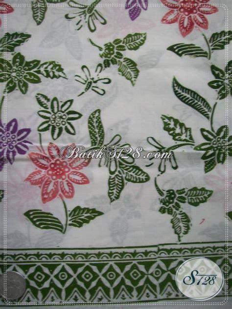 Kain Batik Motif Bunga Cantik Indah Asli Pekalongan Batik Cap gambar piyabobot gems batik satu malaysia bunga
